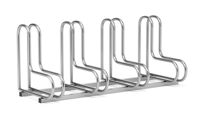 street bicycle rack isolated on white background