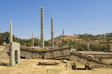 UNESCO World Heritage obelisks of Aksum, Ethiopia