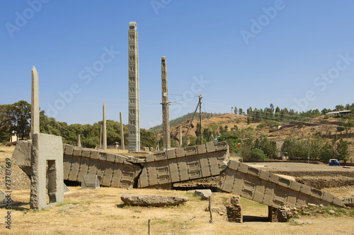 Staande foto Afrika UNESCO World Heritage obelisks of Aksum, Ethiopia