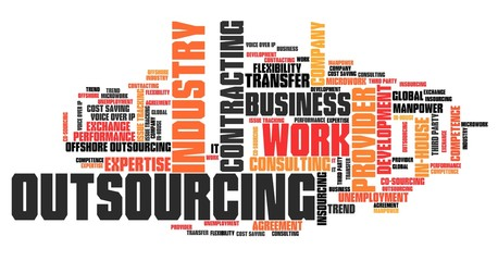 Outsourcing. Word cloud concepts.