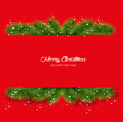 Merry X-mas and Happy New Year background