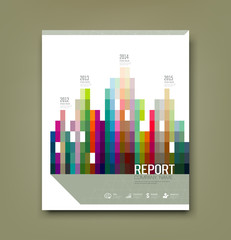 Cover Report colorful geometric building patten statistic