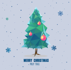 Christmas tree ball polygonal design
