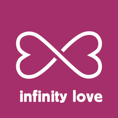 Vector sign infinity love