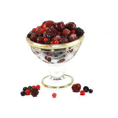 coupe de fruits rouges