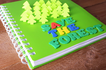 Concept of conservation forests of cut paper