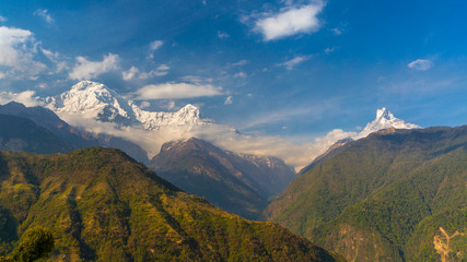 Panoramic view of Annapurna and Machapurchre mountain