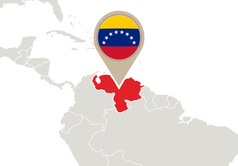 Venezuela on World map