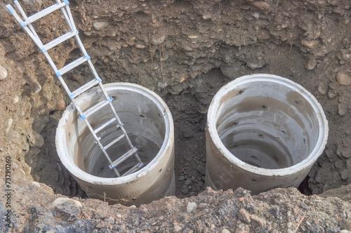 canvas print picture Manhole detail