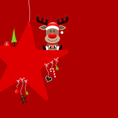Rudolph Red Star & Symbols Candy Red