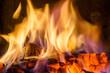 Hot coals in the fire - 73790633