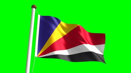 Seychelles flag (seamless & green screen)