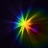 Fototapety Abstract flash star light. Colorful exploding