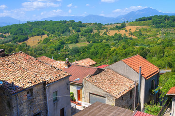 Panoramic view of Viggianello. Basilicata. Italy.