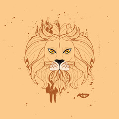 Stylized Lion Head