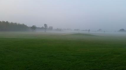 Nebbia nel campo da golf