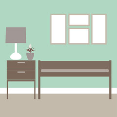 Vector illustration of interior design.