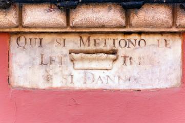 Ancient Mailbox - Carrara Tuscany Italy