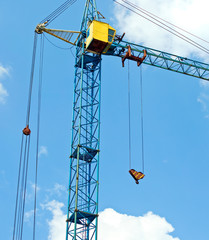 crane on sky background