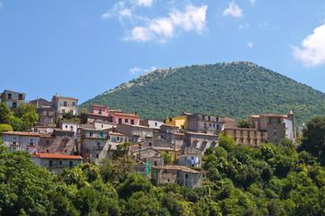 Panoramic view of Viggianello. Basilicata. Italy.