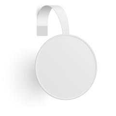Advertising wobbler isolated on white