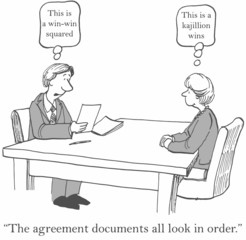 "'This is a win-win squared.'  ""The agreement documents..."""