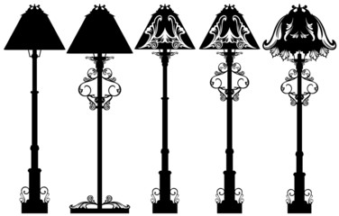 stand lamp black and white design set