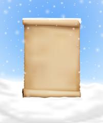 Wunschliste im Schnee