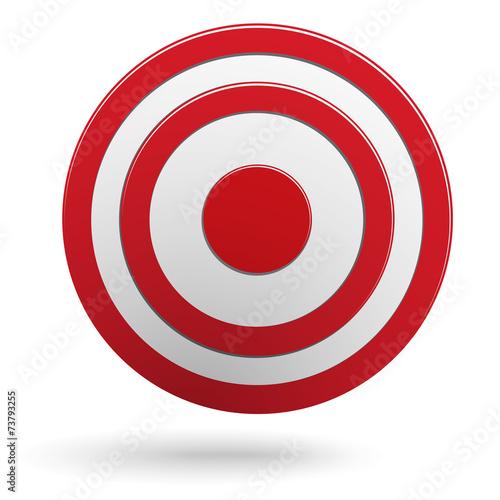 Czerwony round strzałka celu cel odizolowywający na bielu
