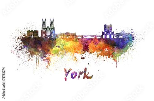 York skyline in watercolor