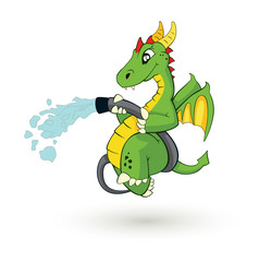cute fire-fighter dragon