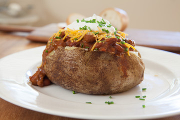 Baked Potato with Chili