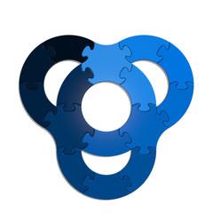 Circle Puzzle 15 - Blue XL