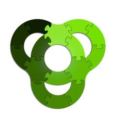Circle Puzzle 15 - Green XL