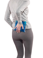 Pain in woman back.
