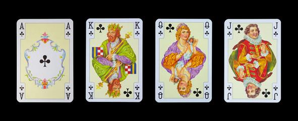 Spielkarten in Luxus und Nostalgie - KREUZ