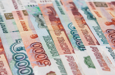 Money Russian banknotes dignity five thousand and thousand ruble