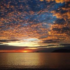 amazimg sunrise at Phuket