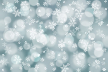 Abstract snowfall illustration background