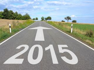 2015 - New Year - Street with Arrow