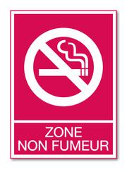 Panneau zone non fumeur.