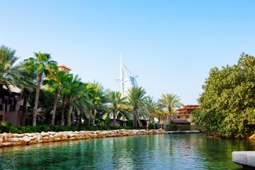 The channel in Souk Madinat Jumeirah, Dubai, UAE