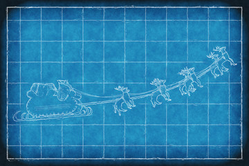 Blueprint Santa Claus sleight