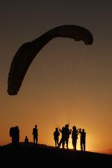 Sunset - Parachute - Günbatımı - Paraşüt