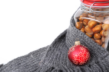 Christmas time - hazelnuts in a jar
