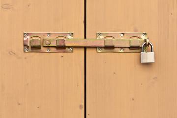 Überwurfriegel - Torriegel - gelb verzinkt