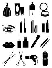 Makeup icons set