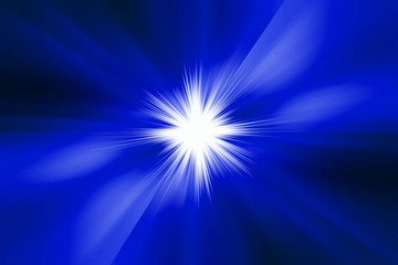 starburst blue abstract background