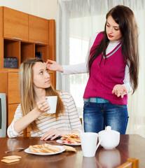 Two women having  squabble