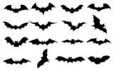 Fototapety Bats icons set
